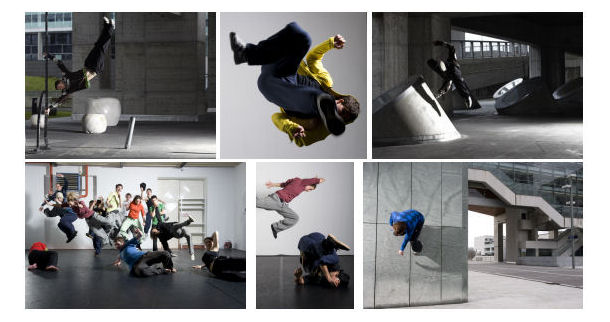 Freerunning parkour tanz performance